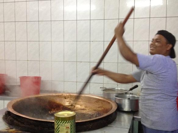 Boiling the halawa.